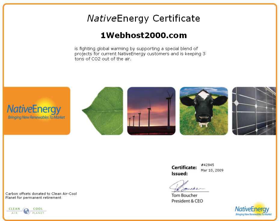 Renewable Energy Certficate