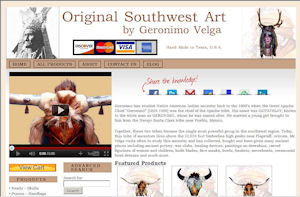 Geronimo Velga Southwest Art